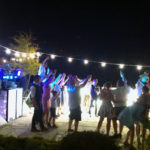 A party with Mobile DJ Services at night